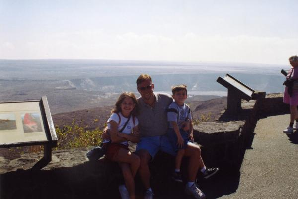 Me and the kids overlooking the Kilauea caldera